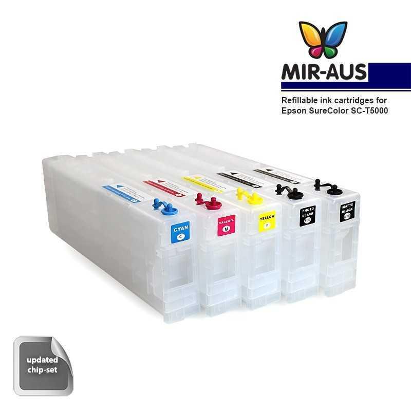 Cartuchos de tinta recargables para Epson SureColor SC-T5000