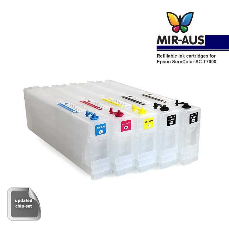 Refillable ink cartridges for Epson SureColor SC-T7000