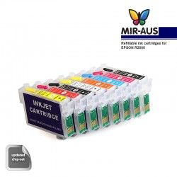 Refillable tinta cartridge untuk EPSON R2000