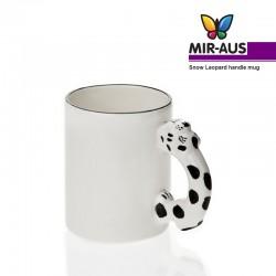 Snow Leopard handle mug