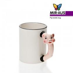 Pig handle mug