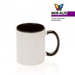 Taza de cerámica interno/mango negro