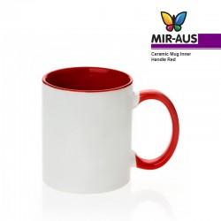 Ceramic Mug Inner Handle Red