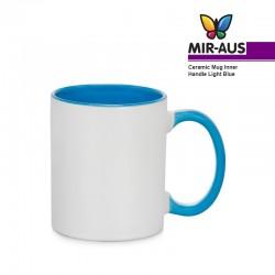 Tasse en céramique poignée intérieure/bleu clair