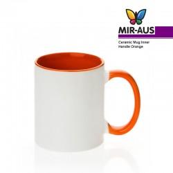 Tasse en céramique poignée intérieure/Orange