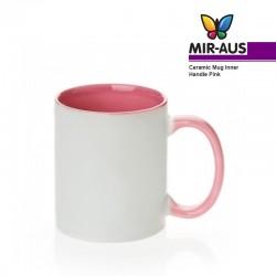 Керамическая кружка внутренняя/ручка розовый