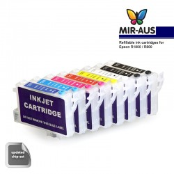 Refillable cartridge for Epson R1800 R800