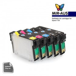 Refillable ink cartridge for Epson T30