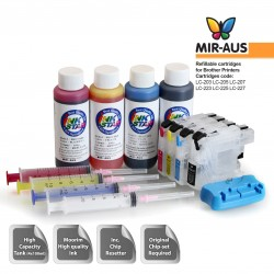 Refillable ink cartridges compatible with Brother MFC-J480DW