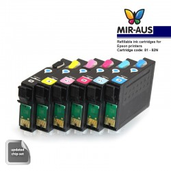 Refillable ink cartridge EPSON TX800FW 82N