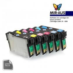 Cartouche d'encre rechargeable pour EPSON 1410 (A + B)