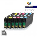 Refillable ink cartridge for EPSON 1410 A+B