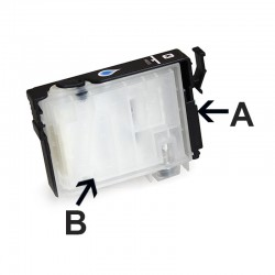 Cartucho de tinta recarregáveis EPSON TX550 TX550W