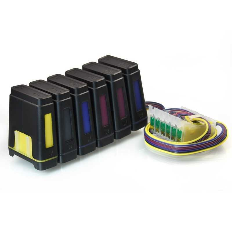 Kontinuerlig bläck levererar system för Epson - DTG R1390