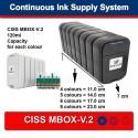 CISS PER EPSON R2400 MBOX-V. 2, FLY-V. 3