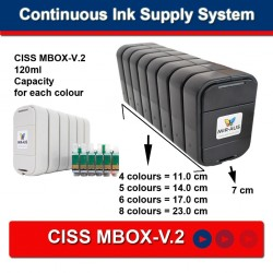 F887 CISS עבור EPSON R2400 MBOX-1977, זבוב-S55 2008