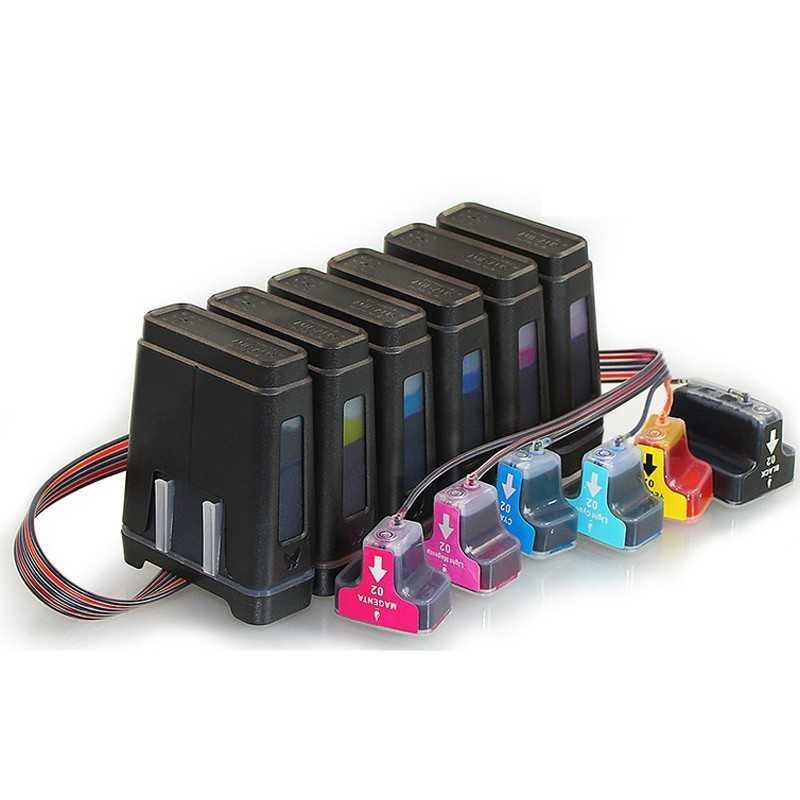 CISS עבור HP Photosmart D7260 7260 HP02 פליי-s55 2008