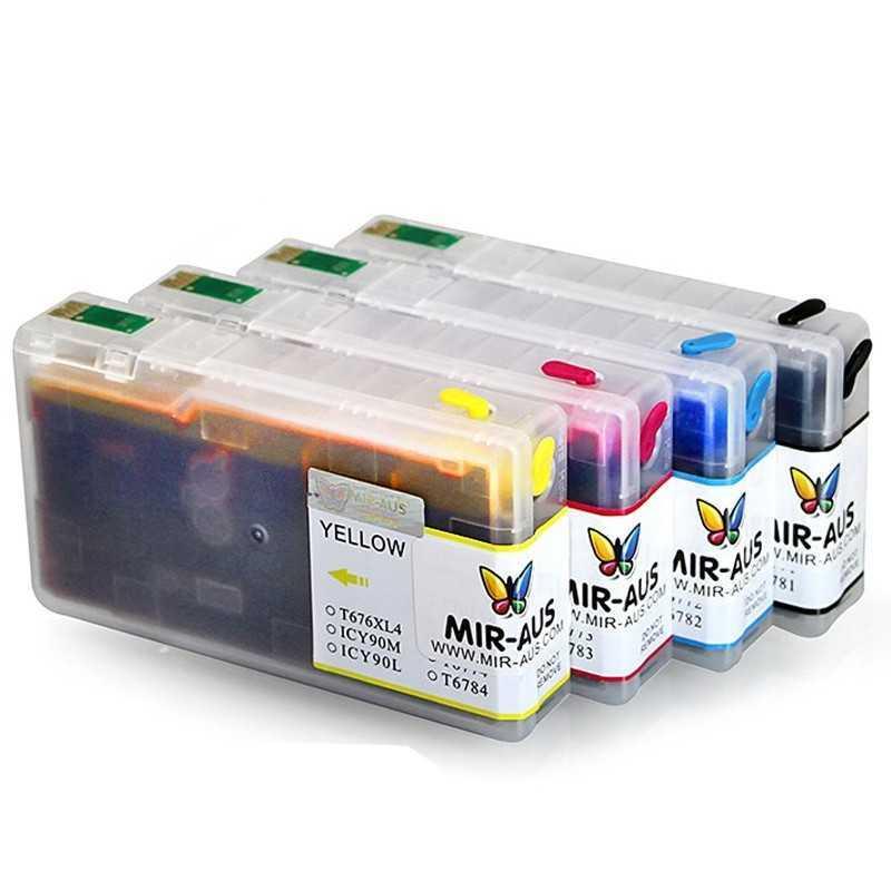 Dye Refillable ink cartridges for Epson WorkForce Pro WP-4540