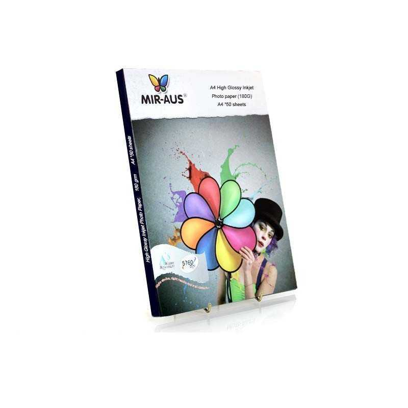 A4 180G 50 sheets High Glossy Inkjet Photo Paper