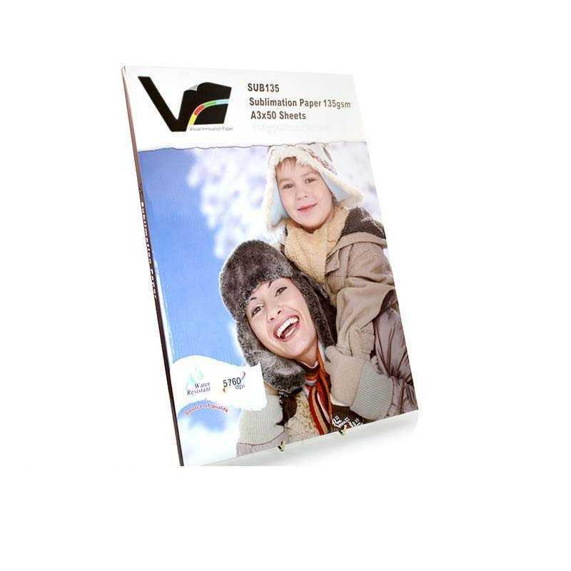 Visuelle Innovation Sublimation Papier A3 Größe - 50 Blatt
