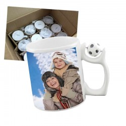 Sublimation Keramik Fußball Becher 11oz