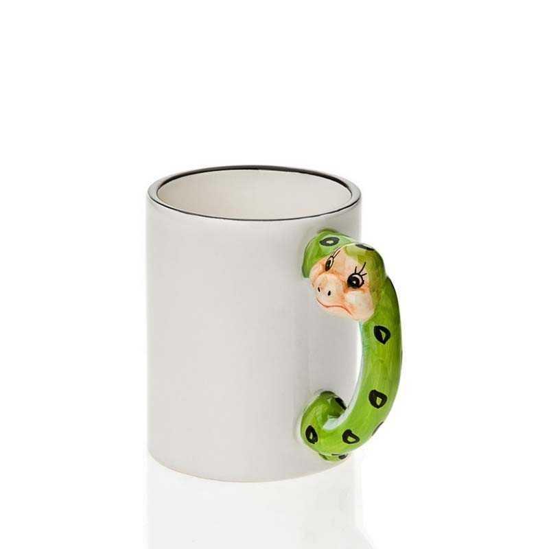 Taza de mango de serpiente
