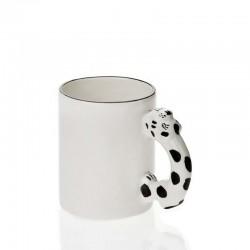 Macan tutul salju menangani mug