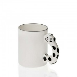 Snow Leopard handle mug