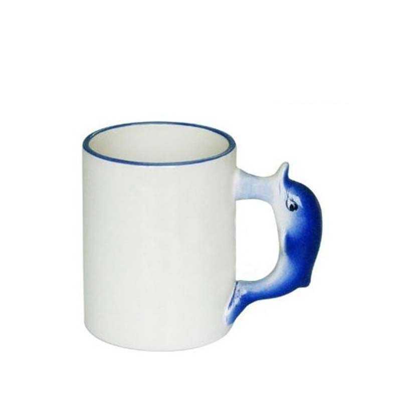 Dolphin håndtag krus