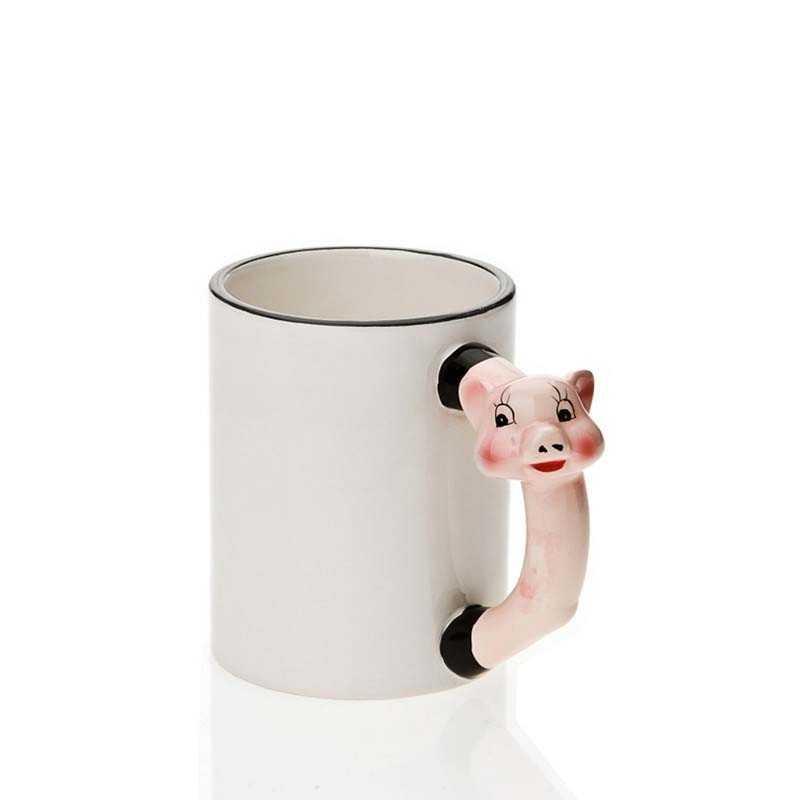 Babi menangani mug