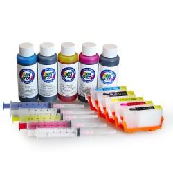Refillable Ink Cartridges for Canon MP970 PGI-5BK CLI-8BK CLI-8Y CLI-8M CLI-8C