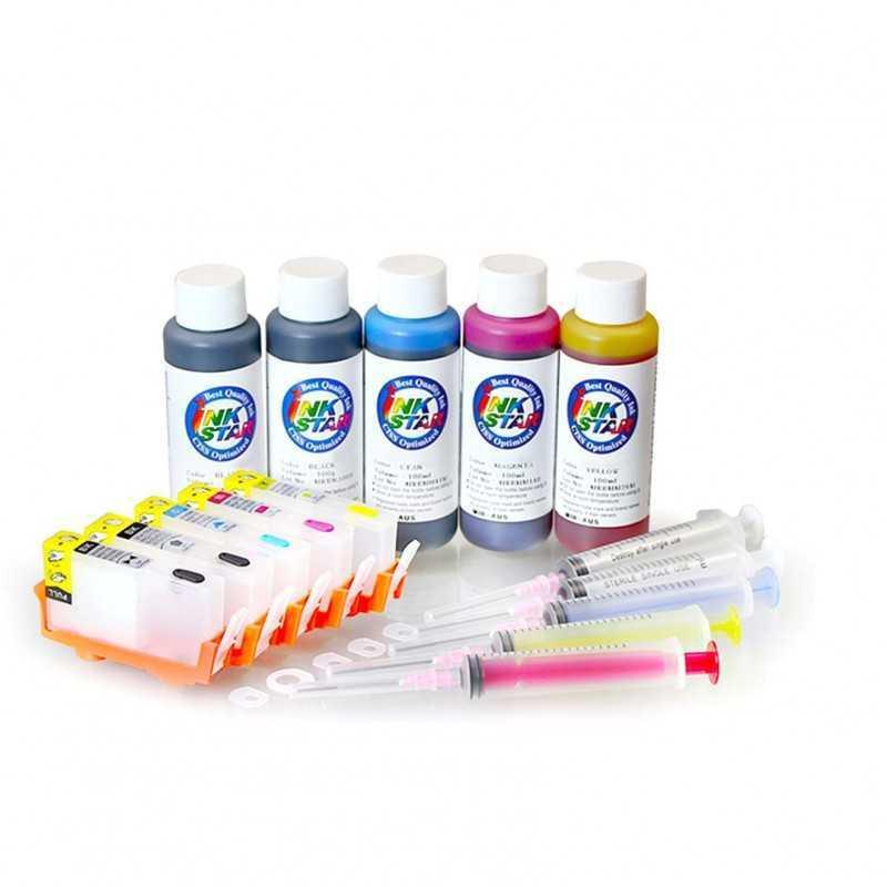 Cartucho de tinta recarregáveis HP 564 5 cartrudges