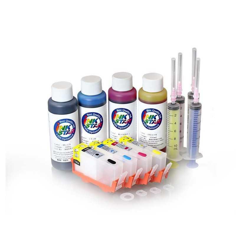 Refillable tinta cartridge HP 564 4 cartrudges