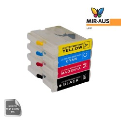 Refillable ink cartridges for Brother LC37