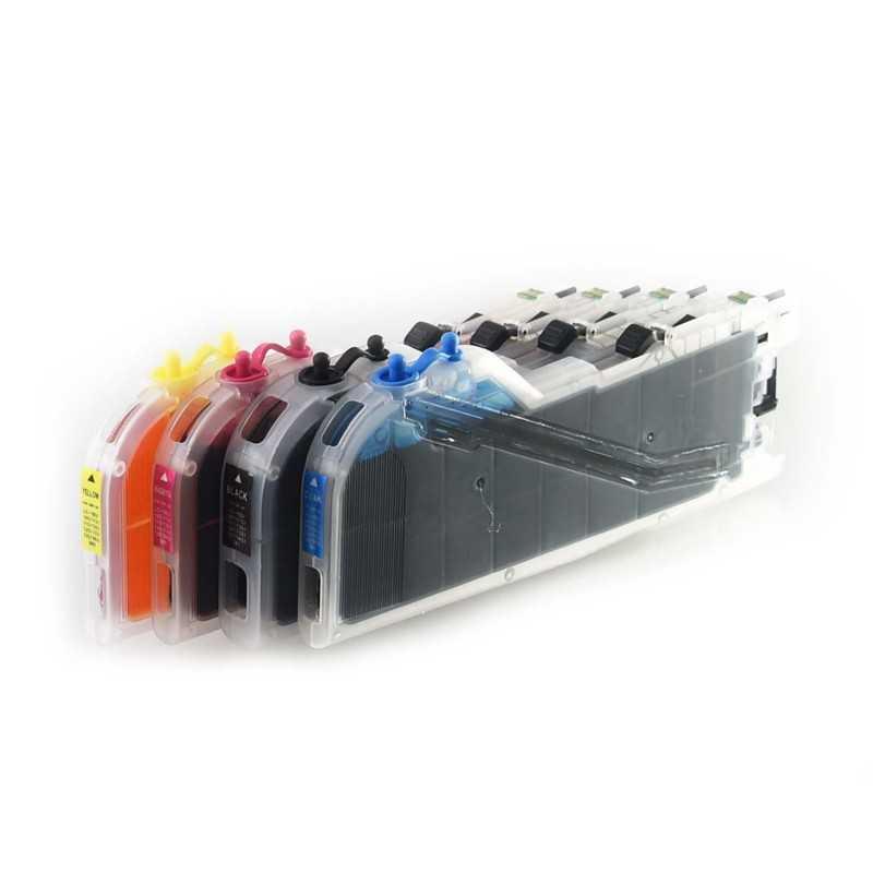 Isi ulang tinta kartrid cocok untuk saudara MFC-J650DW