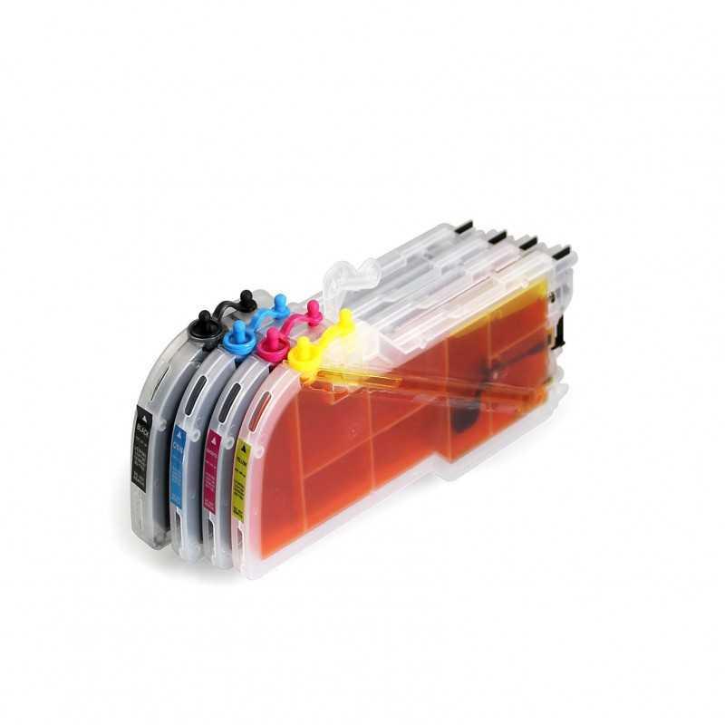 Cartuchos de tinta recarregáveis para irmão MFC-J6510DW LC75 LC73 LC77
