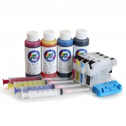 Refillable ink cartridges compatible with Brother DCP-J562DW
