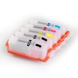 Tomma bläckpatroner med CISS för Canon 650-651 5 färger utan chip-set
