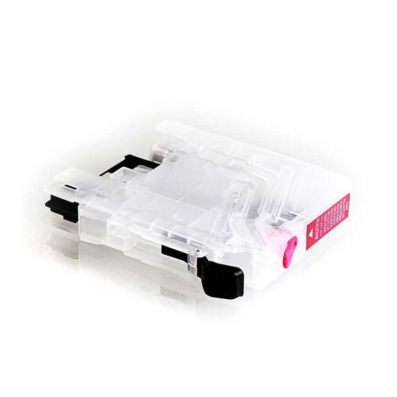 Empty CISS magenta cartridge for Brother LC-133, LC-233 without chip-set