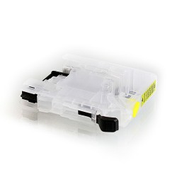 Empty CISS yellow cartridge for Brother LC-133, LC-233 without chip-set
