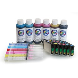 Refillable ink cartridge for Epson Artisan 1430 A+B
