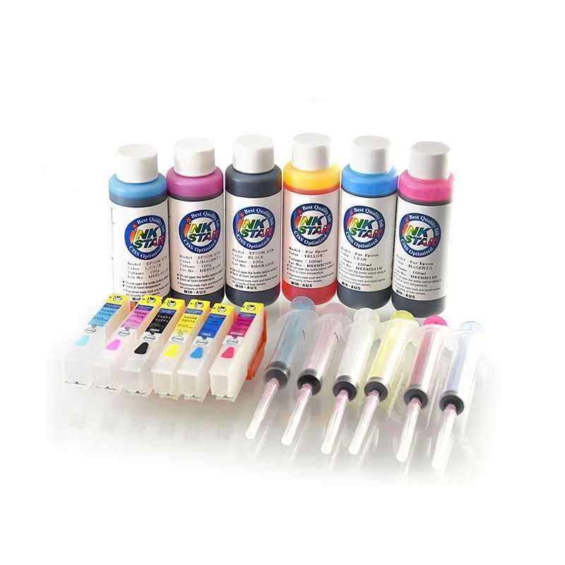 Nachfüllbare Tintenpatronen passt Epson Expression Foto XP-850 850