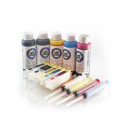 Ternos de cartuchos de tinta recarregáveis Epson expressão foto XP-800 800