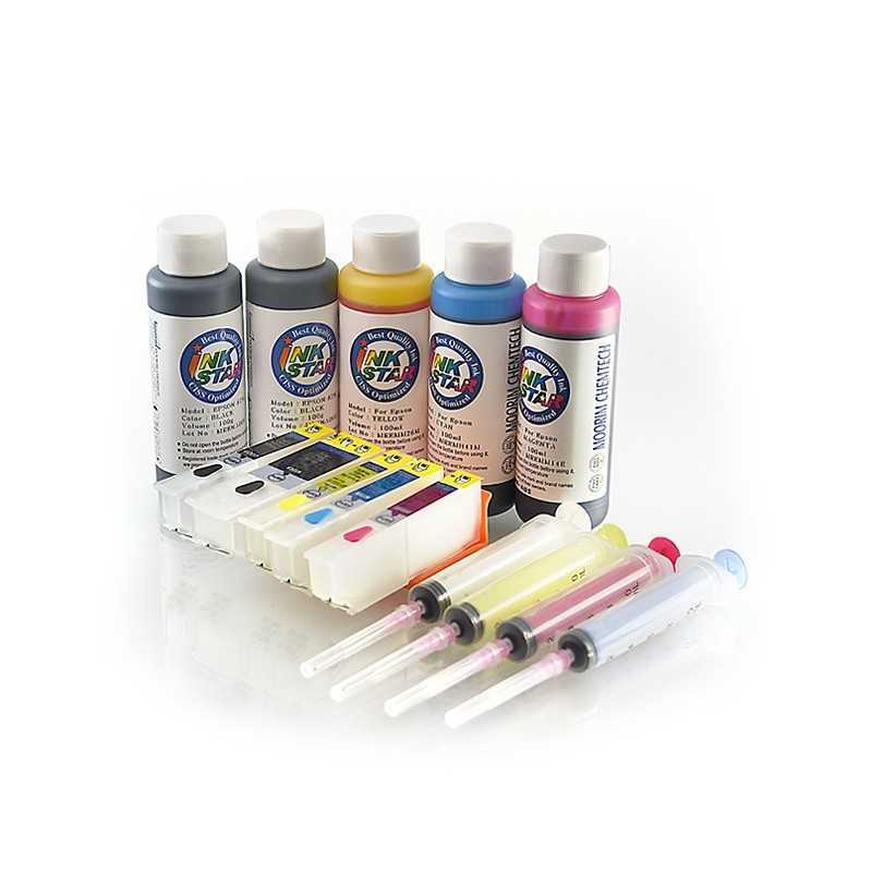 Ternos de cartuchos de tinta recarregáveis Epson expressão foto XP-600 600