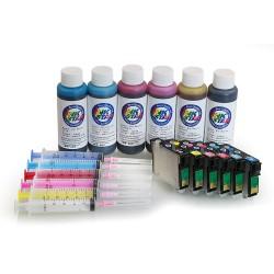 Cartucho de tinta recargables para EPSON 1410 (A + B)