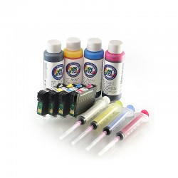 Refillable ink cartridges for Epson TX410