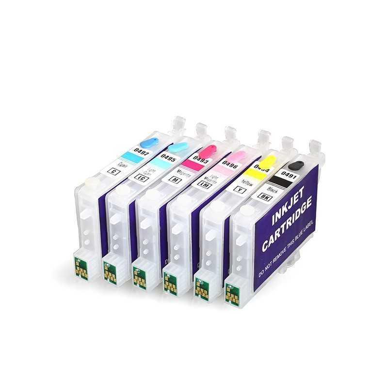 Cartucho de tinta recargables T0491 T0496