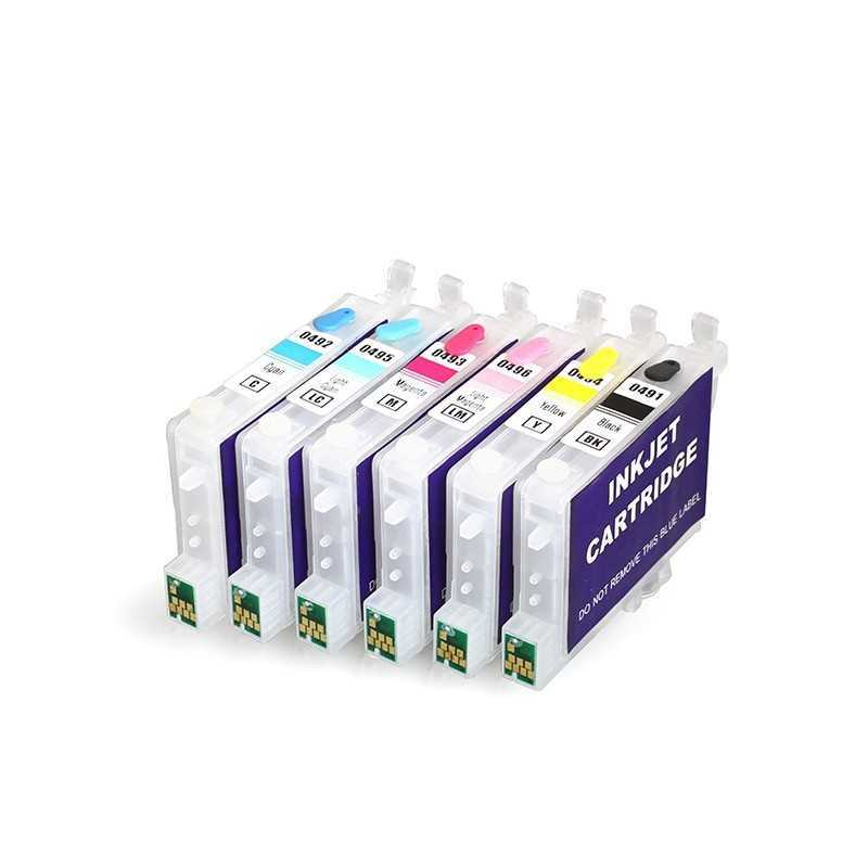 Refillable tinta kartrid T0491-T0496