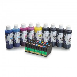 Refillable ink cartridges for Epson R2880 9 colours