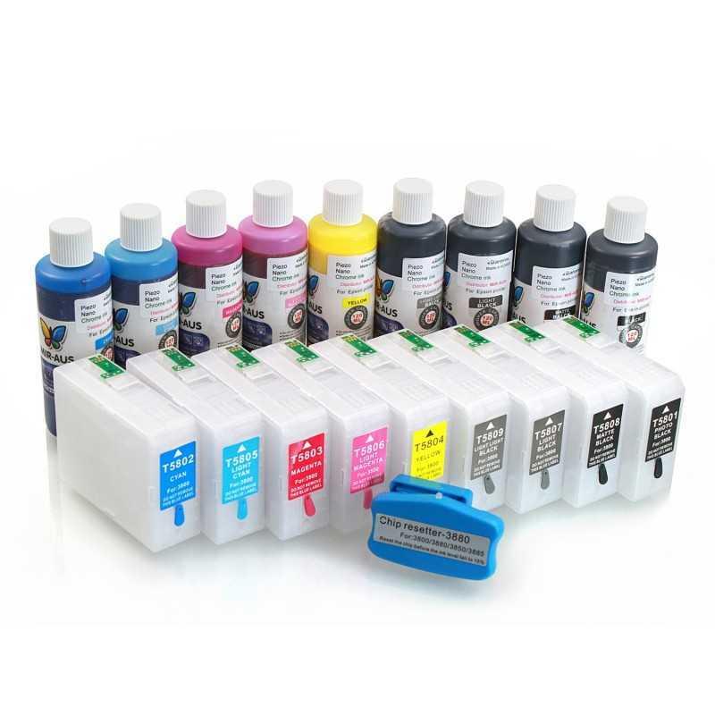 Cartouches rechargeables pour Epson 3880
